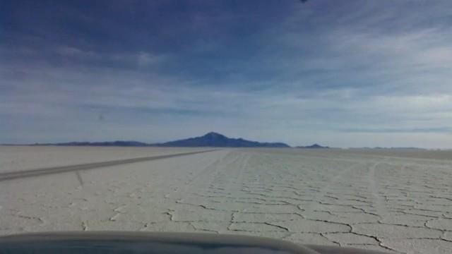 Fahrt durch die Salzwüste